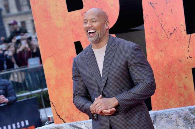 Dwayne The Rock Johnson alla prima europea di Rampage