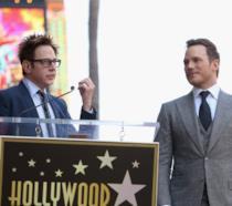James Gunn parla al fianco di Chris Pratt