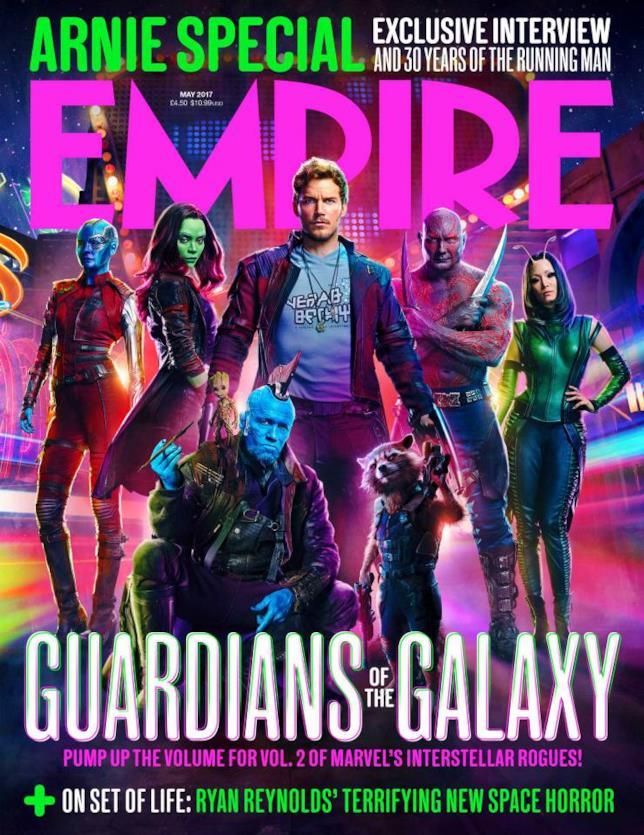 La copertina di Empire con Guardiani della Galassia Vol. 2