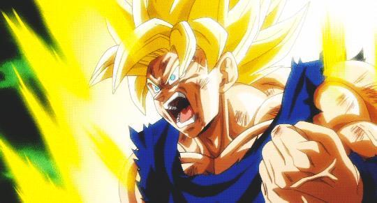 Goku SSJ2 in una GIF di Dragon Ball Xenoverse