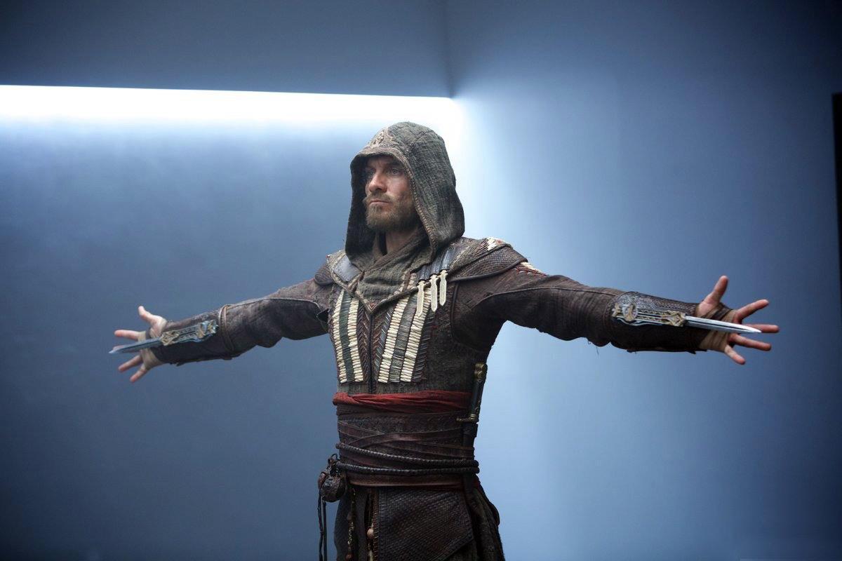 Una posa e un'arma che i fan di Assassin's Creed conoscono molto bene.