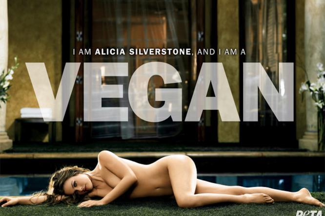 Alicia Silverstone nella prima campagna per PETA nel 2007