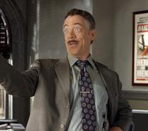 J.K. Simmons nel ruolo di JJJ in Spider-Man