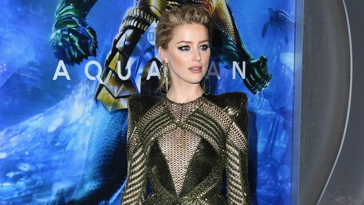 Amber Heard alla presentazione di Aquaman