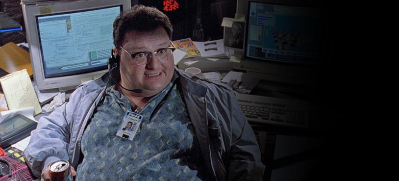 Nedry è un personaggio obeso ma davvero abile al computer