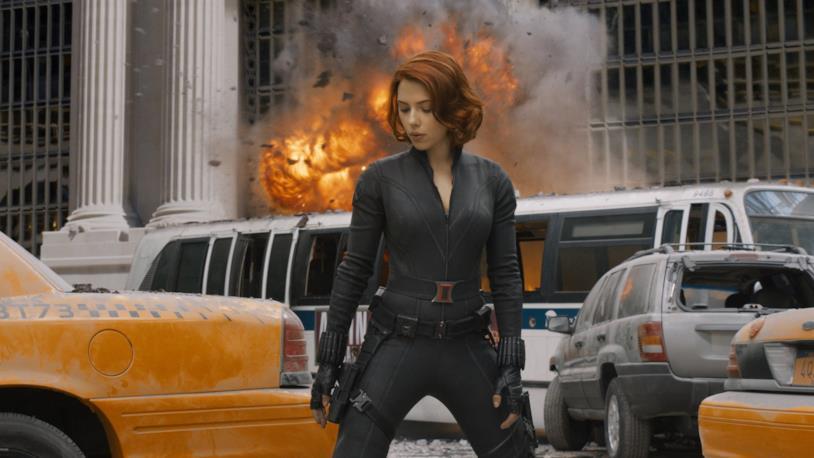 Scarlett Johansson nei panni di Natasha Romanoff in The Avengers