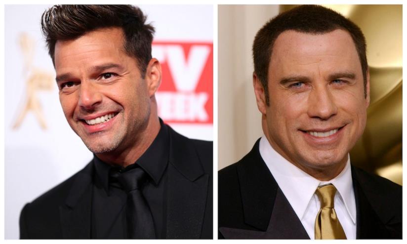 Primo piano di Ricky Martin e John Travolta