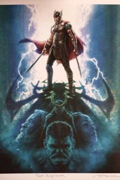 Tutti gli eroi di Thor: Ragnarok disegnati in questo poster
