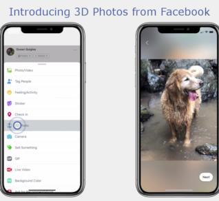 L'immagine dell'annuncio delle foto in 3D su Facebook