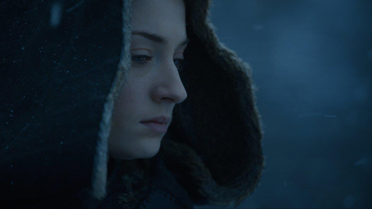 Sansa incappucciata in GoT 7x07