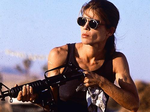 Linda Hamilton è Sarah Connor in Terminator 2 - Il giorno del giudizio
