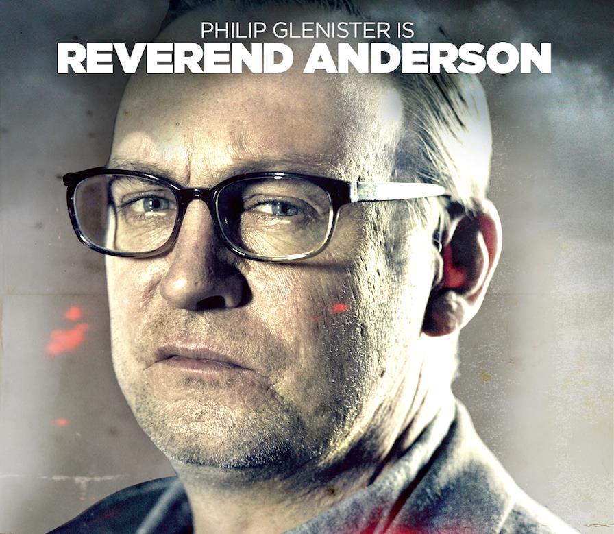 In Outcast interpreta il Reverendo Anderson, spalla di Kyle Barnes