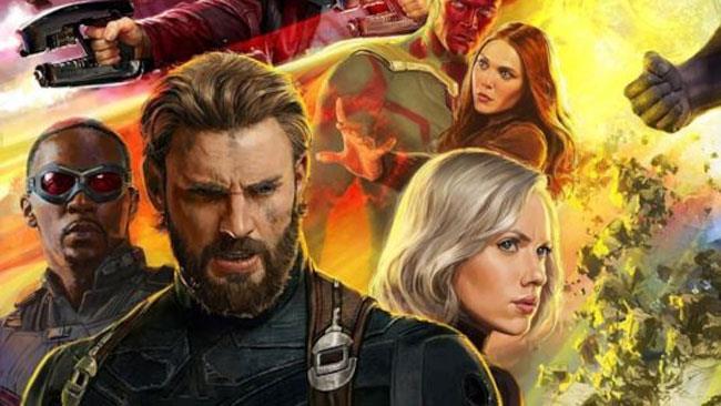 Steve Rogers e i Vendicatori nel poster di Infinity War