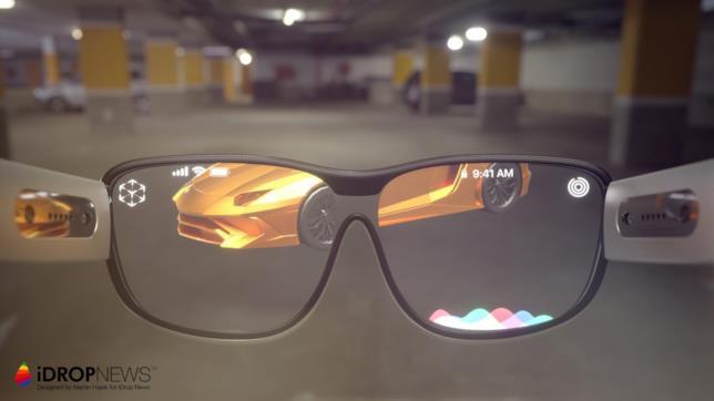 Un concept degli Apple Glass realizzato da Martin Hajek per iDropNews