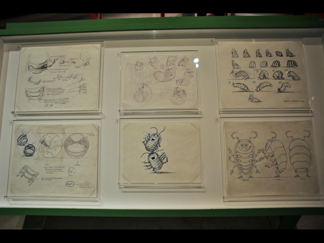 Alcuni bozzetti per a Bug's Life, uno dei primi film Pixar