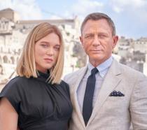 Daniel Craig e Lea Seydoux sul set