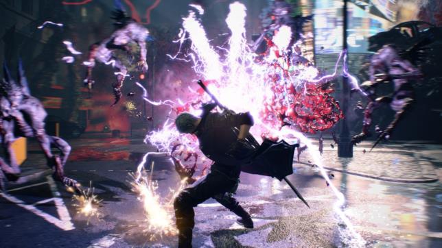 Una sequenza di gioco di Devil May Cry 5