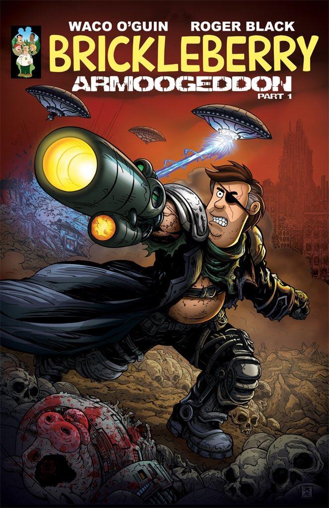 La cover del primo numero del fumetto di Brickleberry