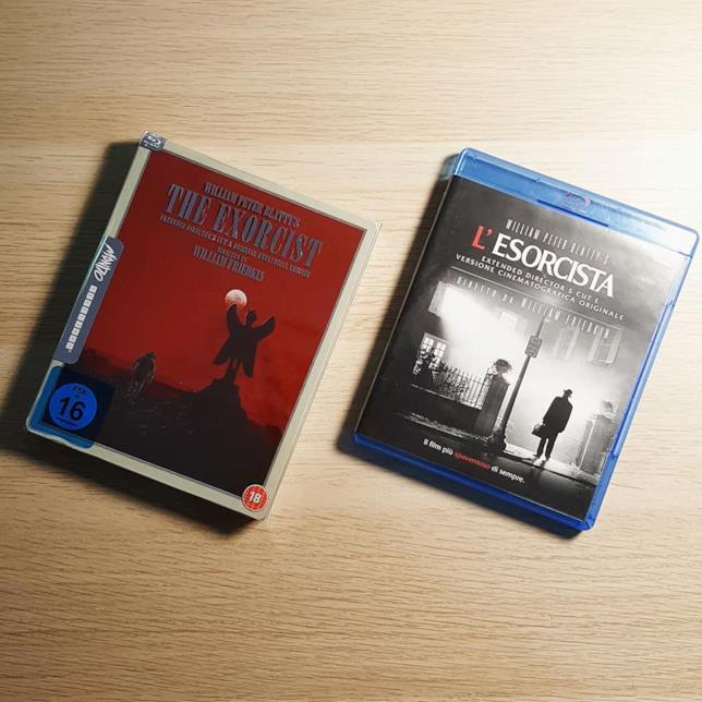L'Esorcista in Blu-ray nell'edizione Mondo Steelbook e in quella amaray