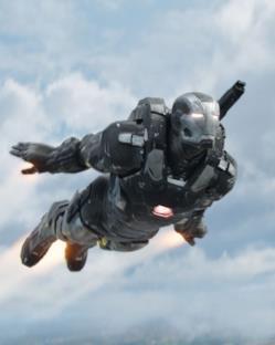War Machine in volo in Capitan America: Civil War