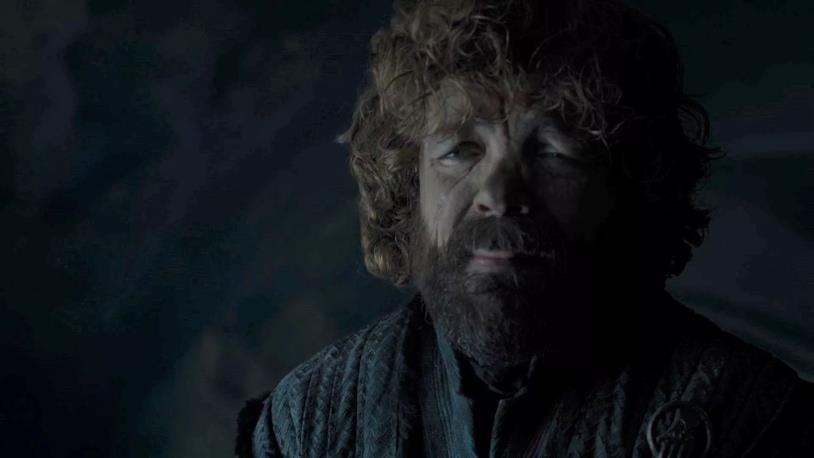 Peter Dinklage in una delle scene di Game of Thrones 8x06