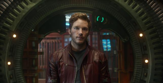 Chris Pratt nel ruolo di Star-Lord in Guardiani della Galassia