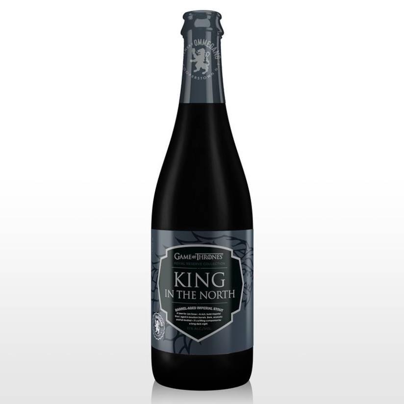 in primo piano la birra King in the North dedicata a Jon Snow