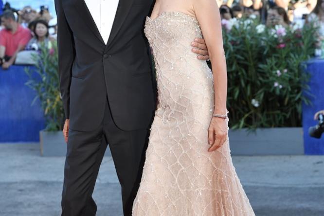 Sonia Bergamasco e Fabrizio Gifuni alla serata di apertura di Venezia 73
