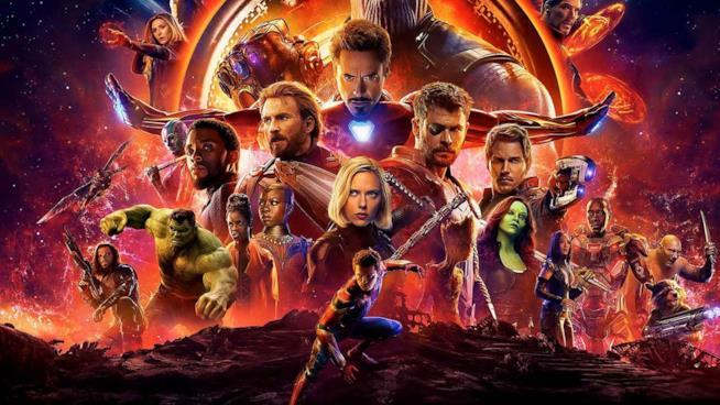 Un poster promozionale di Infinity War