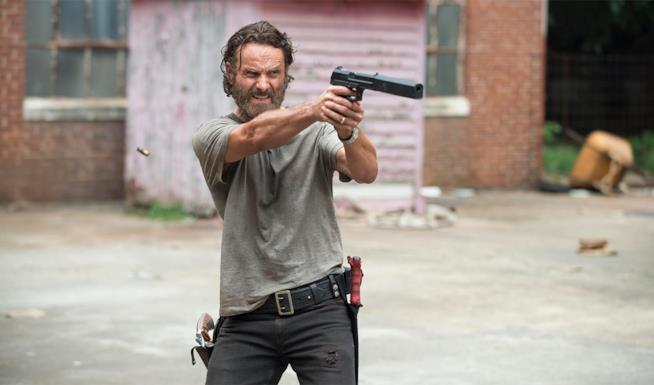 Rick Grimes in un'immagine di The Walking Dead