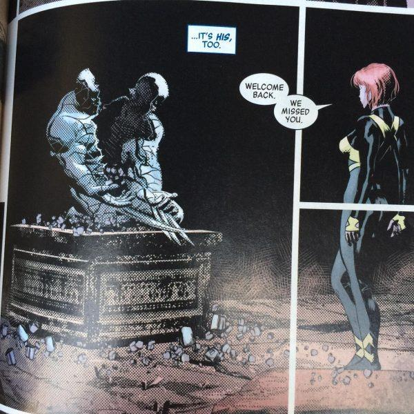 Una tavola del primo numero di Marvel Legacy