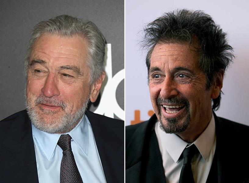 Collage di Robert De Niro e Al Pacino
