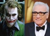 Joker (Heath Ledger) e il regista Martin Scorsese