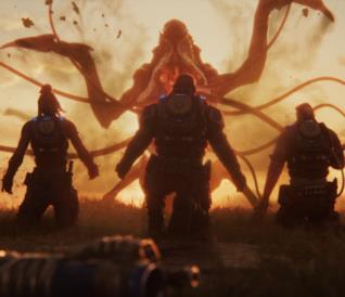 I tre protagonisti di Gears 5: Escape