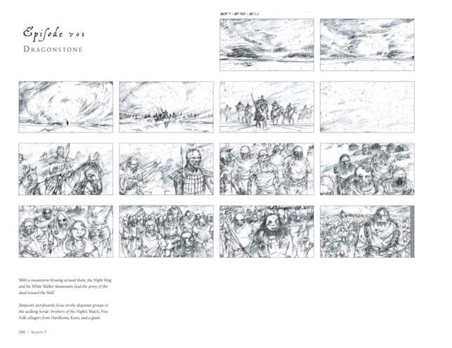 Uno degli storyboard di Game of Thrones 7x01