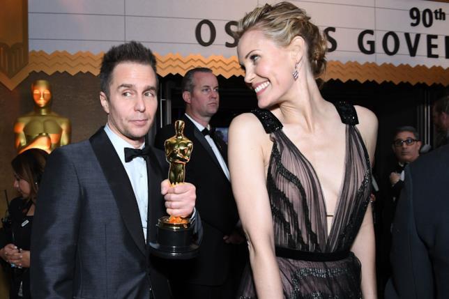 Sam Rockwell e moglie agli Oscar 2018
