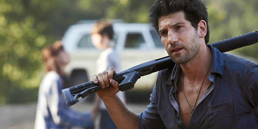 Jon Bernthal nel suo ruolo in The Walking Dead
