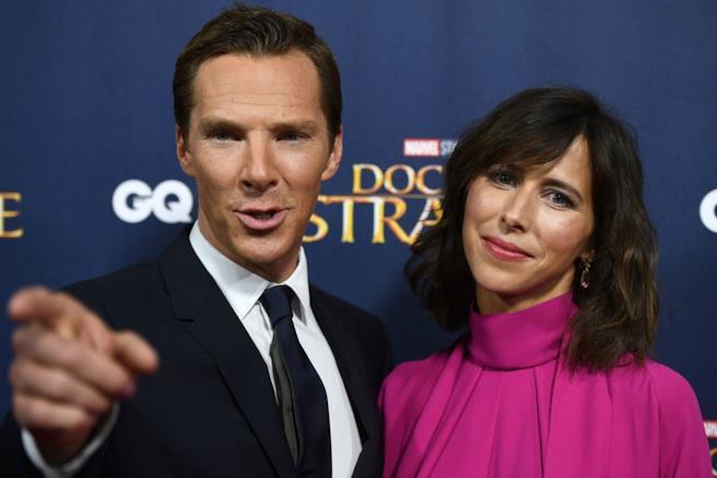 Benedict Cumberbatch insieme alla moglie Sophie Hunter