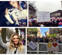 Alcune delle celebrities che hanno preso parte alla Women's March