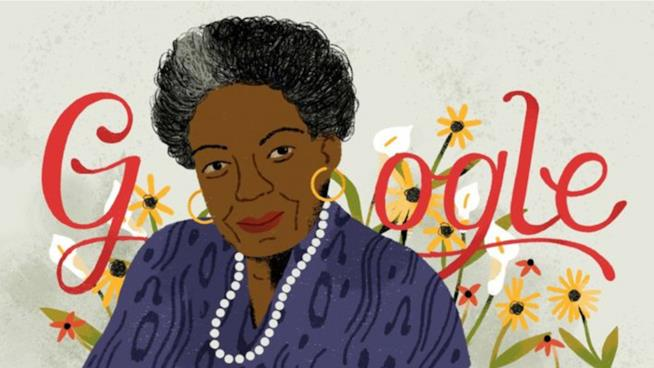 Google omaggia Maya Angelou con un Doodle animato