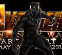 Black Panther e il logo di Avengers: Infinity War