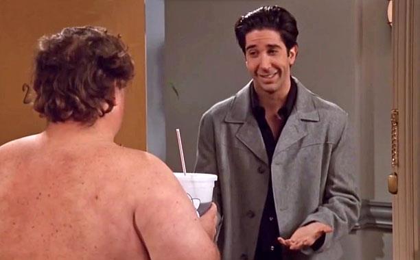 Uomo Nudo e Ross in Friends
