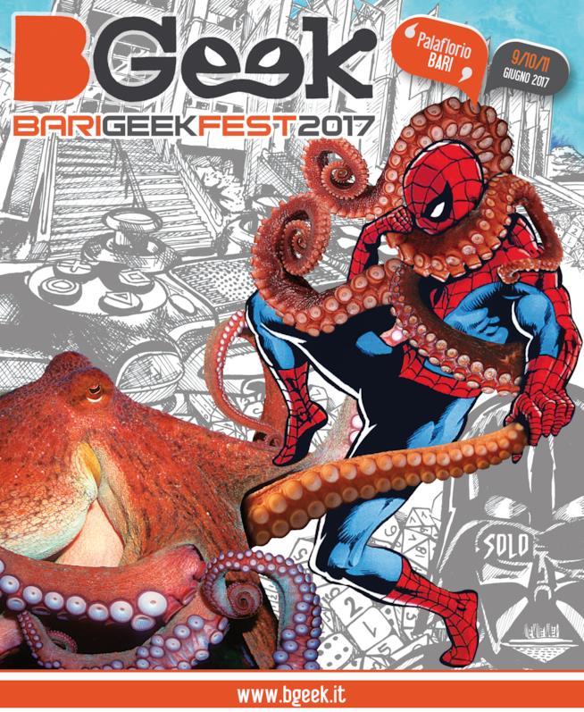 Spider-Man nel manifesto ufficiale della manifestazione BGeek 2017
