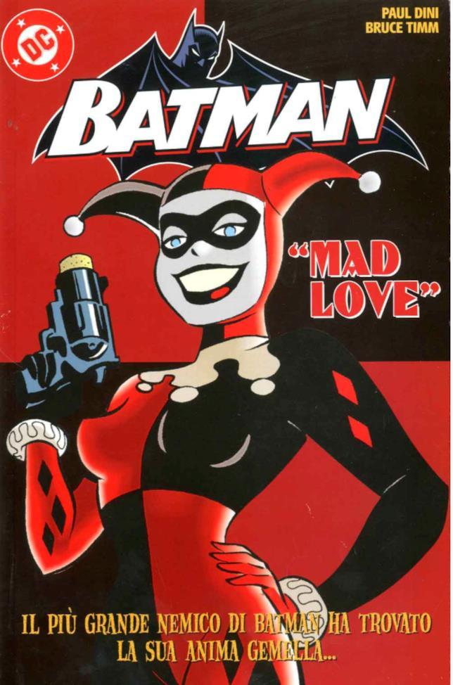 Cover del fumetto Mad Love sulla storia d'amore tra Joker e Harley Quinn