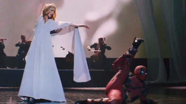 Un fermo immagine del video musicale Ashes con Deadpool e