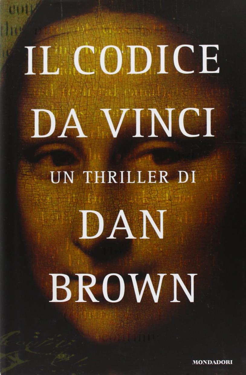 La copertina de Il codice da Vinci