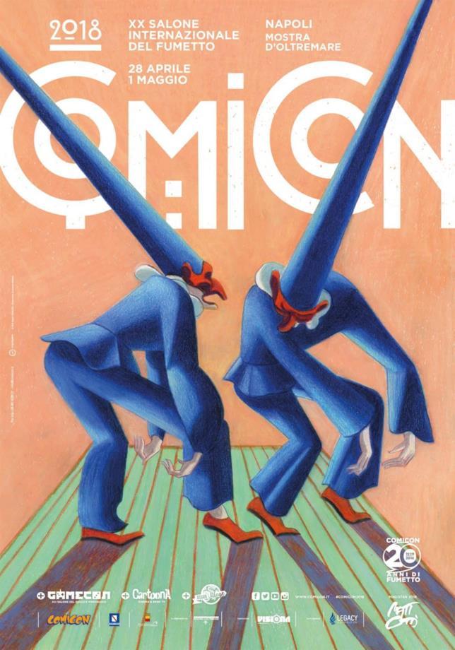 La locandina per i venti anni del Comicon