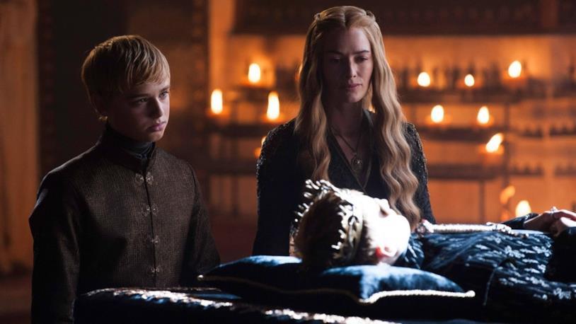 Lena Headey nella scena del funerale del figlio Joffrey Baratheon