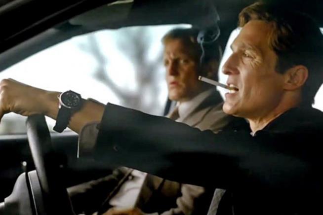 Rusty Cohle e Martin Hart in una scena di True Detective