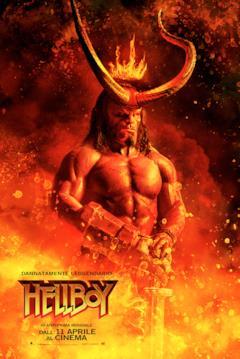 Hellboy nel poster italiano del film